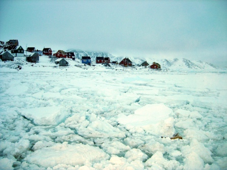 The village of Kulusuk, Greenland, on the edge of the world.