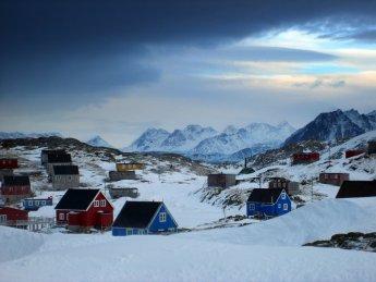 Kulusuk, Greenland, in February