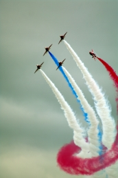 The British display team performs