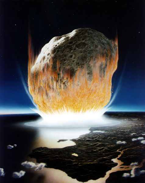 Impression of the impact by Don Davis/NASA.